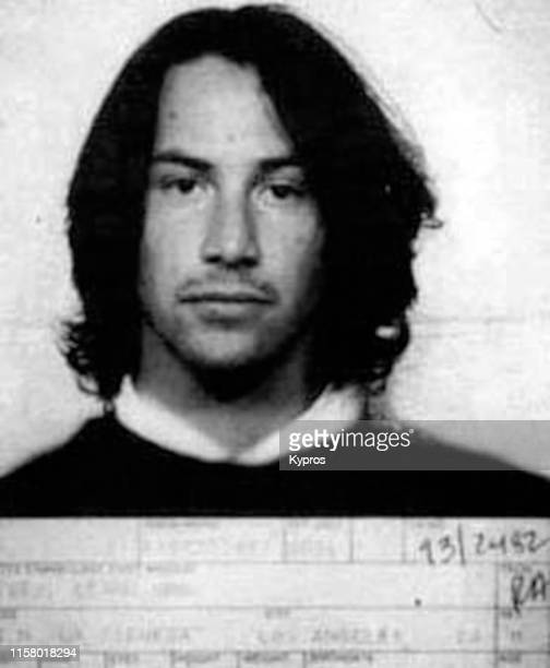 In this handout Canadian actor Keanu Reeves in a mug shot following his arrest for driving under the influence US 1993