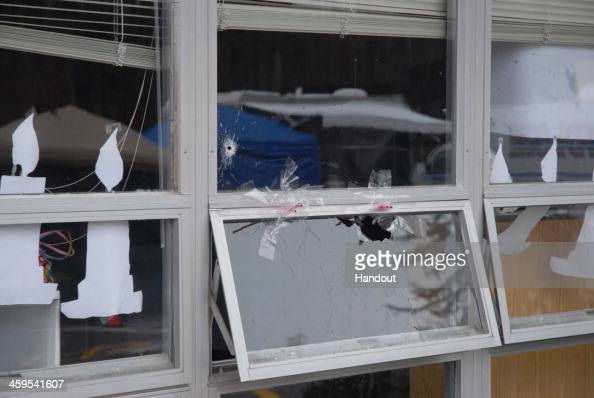 In this handout crime scene evidence photo provided by the ...