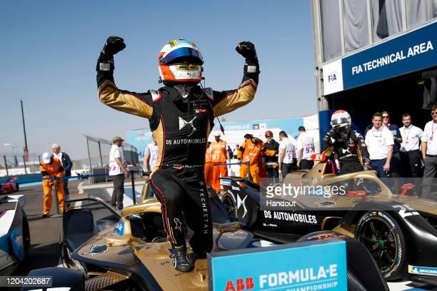 In this handout from FIA Formula E Antonio Felix da Costa DS Techeetah DS ETense FE20 1st position on February 29 2020 in Marrakech Morocco