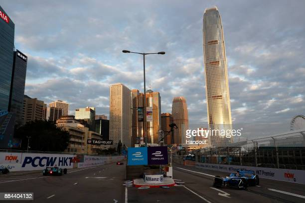 In this handout from FIA Formula E In this handout from the FIA Formula E Series Sebastien Buemi Renault eDams Renault ZE 17 during the Hong Kong...