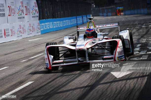 In this handout from FIA Formula E - Neel Jani , Dragon, Penske EV-2 during the Hong Kong ePrix, Round 2 of the 2017/18 FIA Formula E Series at the...