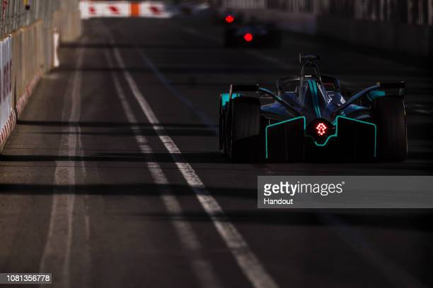 In this handout from FIA Formula E Nelson Piquet Jr Panasonic Jaguar Racing Jaguar IType 3 during the Marrakesh Eprix Round 2 of the 2018/19 ABB FIA...