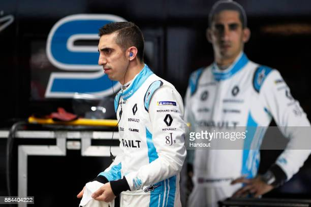 In this handout from FIA Formula E Sebastien Buemi Renault eDams Renault ZE 17 during the Hong Kong ePrix Round 1 of the 2017/18 FIA Formula E Series...