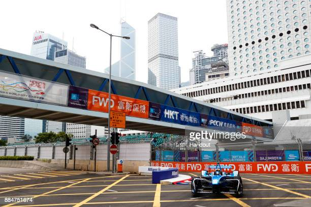 In this handout from FIA Formula E Sebastien Buemi Renault eDams Renault ZE 17 during the Hong Kong ePrix Round 2 of the 2017/18 FIA Formula E Series...
