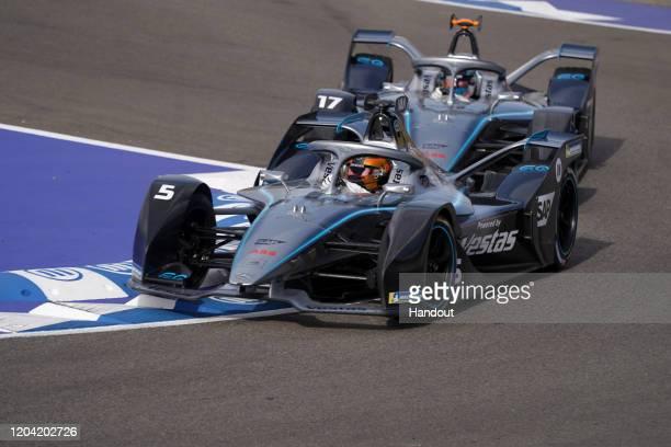 In this handout from FIA Formula E Stoffel Vandoorne Mercedes Benz EQ EQ Silver Arrow 01 on February 29 2020 in Marrakech Morocco
