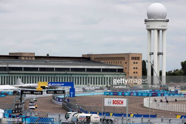 In this handout from Panasonic Jaguar Racing - Race action on May 25, 2019 in Berlin, Germany.