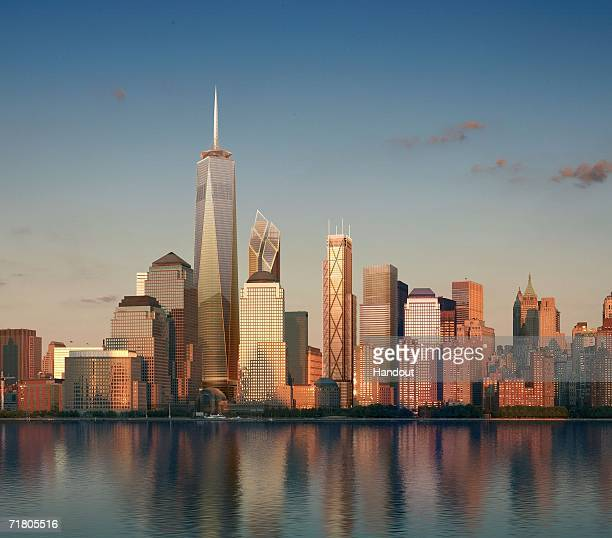 In this handout from RRP Team Macarie a artist's rendering released September 7 2006 shows the Manhattan skyline as proposed after the construction...