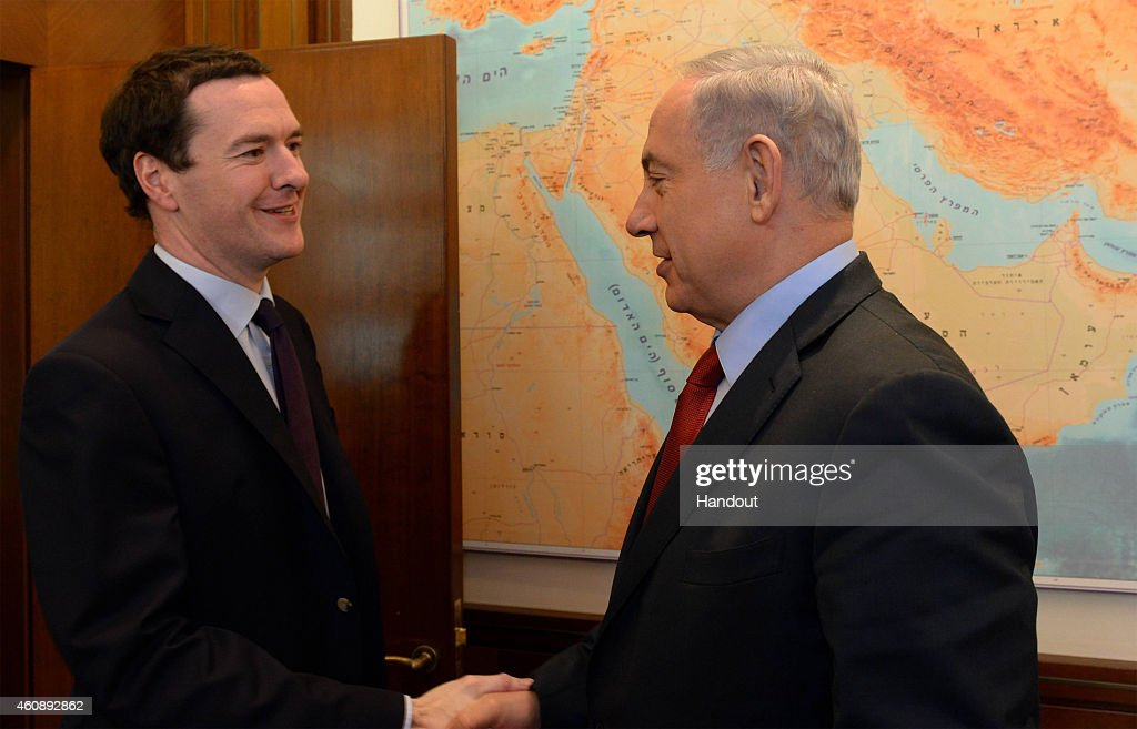 Israeli Prime Minister Benjamin Netanyahu Meets British Chancellor Of The Exchequer George Osborne : News Photo