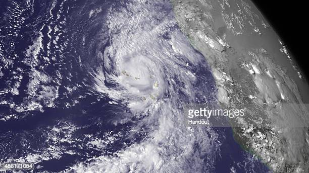 In this handout from the National Oceanic and Atmospheric Administration Hurricane Fred churns September 1 2015 over Cape Verde Islands According to...