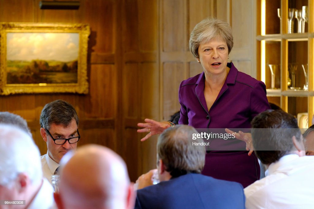 Theresa May Holds Crunch Brexit Summit At Chequers