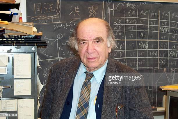 In this handout from the University Of Minnesota, Leonid Hurwicz, Regents Professor Emeritus of Economics at the University Of Minnesota, is seen in...
