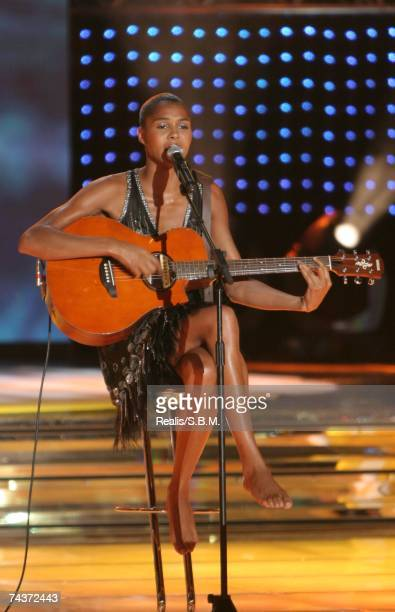 In this handout image Ayo performs during the 'Tenue de Soiree' Television Gala in the Salles des Etoiles at the Sporting Club Monte Carlo on May 31,...