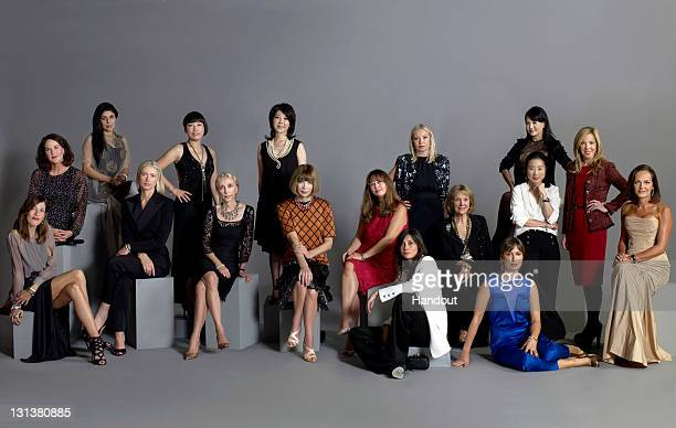 In this handout image Editors of Vogue from around the world pose for a photograph Yolanda Sacristn Spain Kirstie Clements Australia Anaita Adajania...