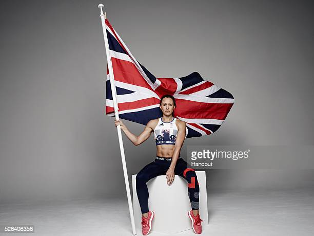 In this handout image from adidas Team GB athlete Jessica Ennis pictured in adidas Team GB Rio 2016 Olympic kit in London England