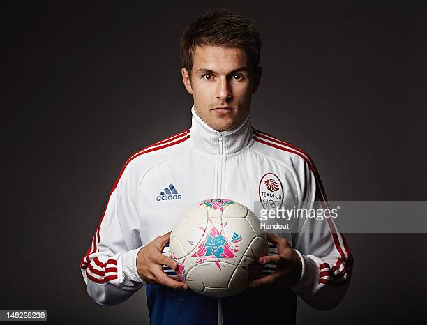 In this handout image from adidas Team GB footballer Aaron Ramsay pictured in adidas Team GB London 2012 Olympic kit in London England