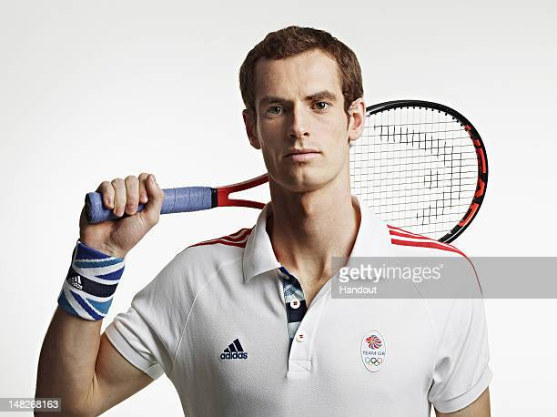 In this handout image from adidas Team GB tennis player Andy Murray pictured in adidas Team GB London 2012 Olympic kit in London England