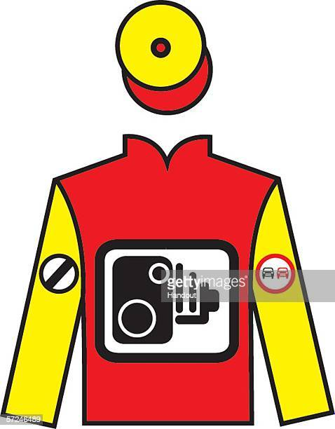 In this handout image Jeremy Clarkson's jockey silk design is seen ahead of an auction of jockey silks designed by celebrities from the worlds of...