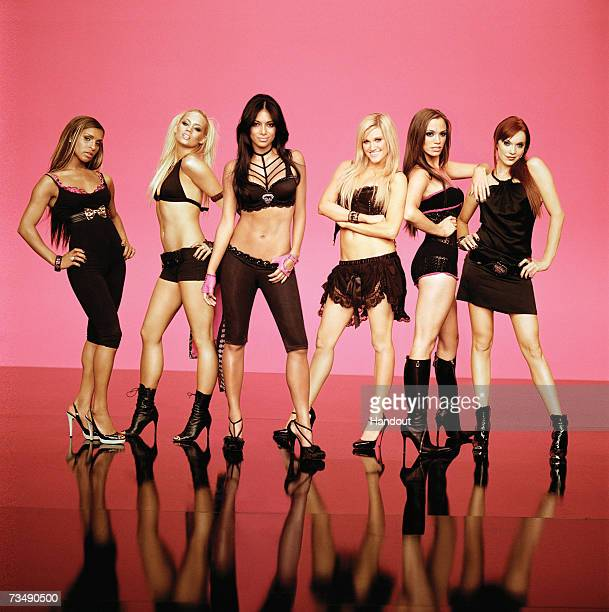In this handout image made available on March 1 2007 by MTV members of the band Pussycat Dolls pose for a portrait shoot Pussycat Dolls were...