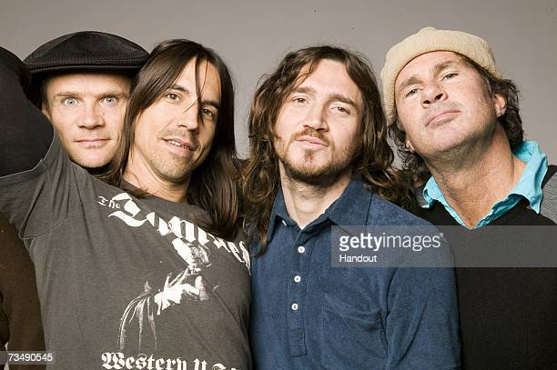 In this handout image made available on March 1 2007 by MTV members of the band Red Hot Chilli Peppers poses for a portrait shoot Red Hot Chilli...