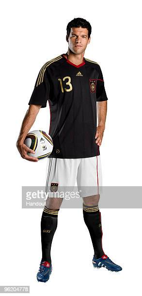 In this handout image provided by adidas Michael Ballack of Germany poses for a photo on January 27 2010 in Herzogenaurach Germany