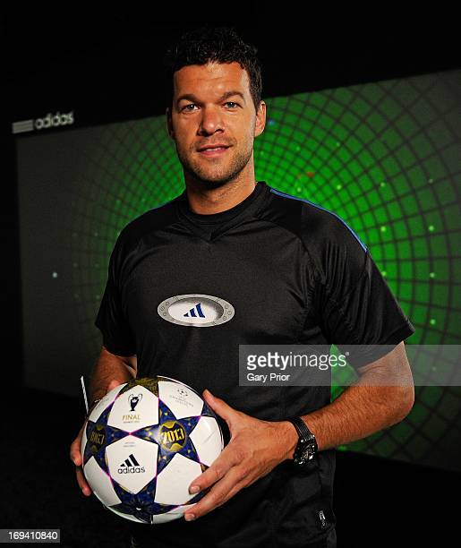 In this handout image provided by adidas Michael Ballack poses on The Track at the adidas lab London on May 24 in London England The Track uses real...