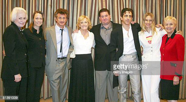 In this handout image provided by AFI Jean Picker Firstenberg ceo and director of AFI Robin Wright Penn actor Sean Penn Eileen Ryan Penn Chris Penn...