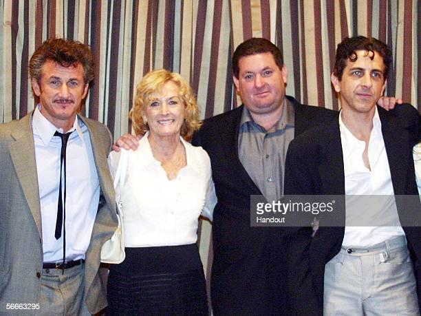 In this handout image provided by AFI shows the Penn familiy Actor Sean Penn Eileen Ryan Penn Chris Penn and Michael Penn attend the AFI Associates...