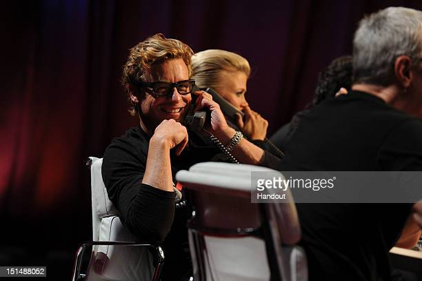 In this handout image provided by American Broadcasting Companies Inc Simon Baker attends Stand Up To Cancer at The Shrine Auditorium on September 7...