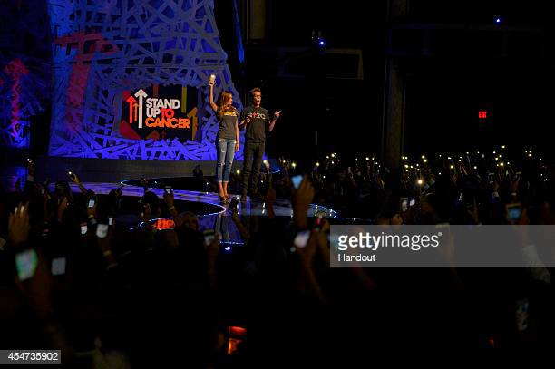 In this handout image provided by American Broadcasting Companies Inc Sophia Vergara and Kevin Bacon attend the 4th Biennial Stand Up To Cancer A...