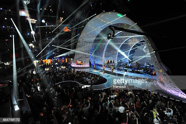 In this handout image provided by American Broadcasting Companies Inc A general view of atmosphere is seen during the 4th Biennial Stand Up To Cancer...