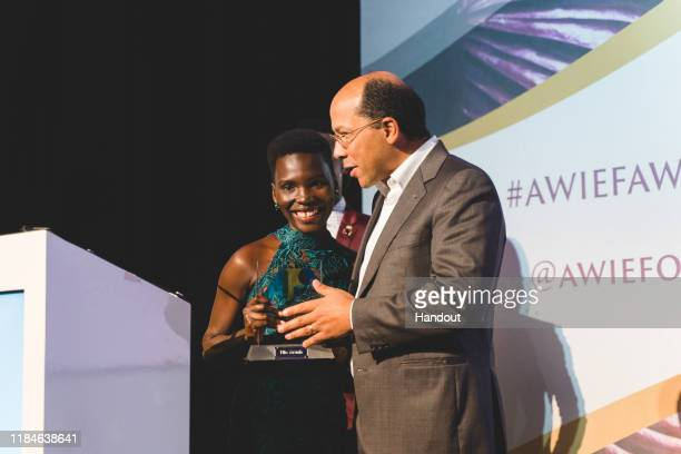 In this handout image provided by APO Group African Women in Media Award Winner speech Nila Yasmin APO Group African Women in Media Award Winner...