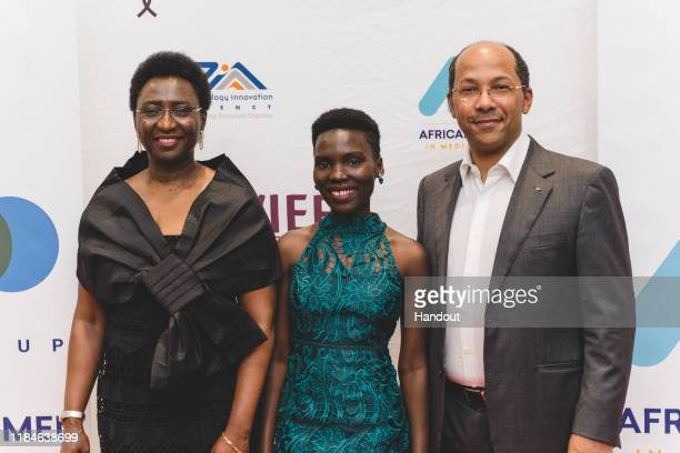 In this handout image provided by APO Group, Arrival at the AWIEF Gala, From left to right, Irene Ochem, Founder and CEO, AWIEF, Nila Yasmin, APO...