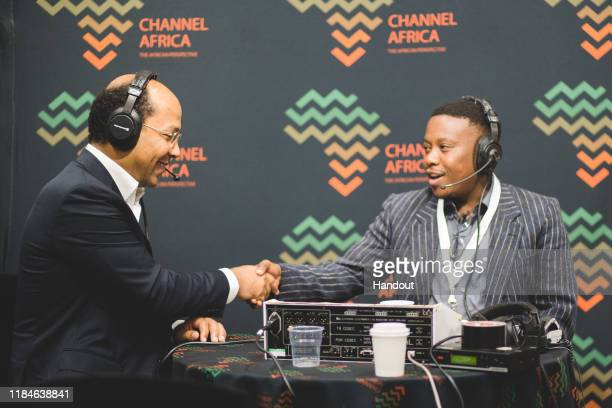 In this handout image provided by APO Group Radio interview with Channel Africa on African Women Empowerment Nicolas PompigneMognard Founder and...
