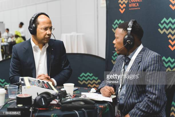 In this handout image provided by APO Group, Radio interview with Channel Africa on African Women Empowerment, Nicolas Pompigne-Mognard, Founder and...