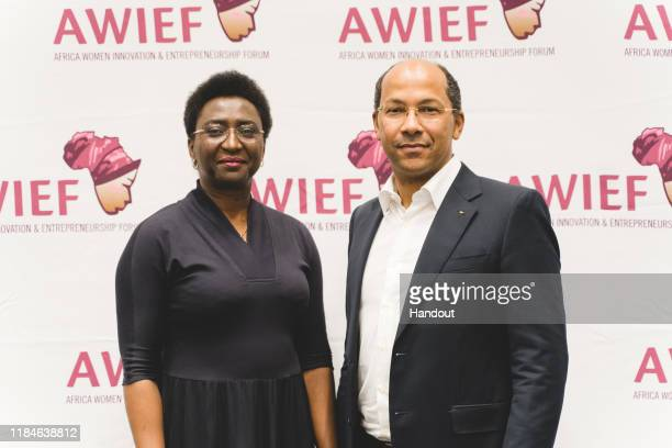 In this handout image provided by APO Group Ready to make positive change Irene Ochem Founder and CEO AWIEF and Nicolas PompigneMognard Founder and...