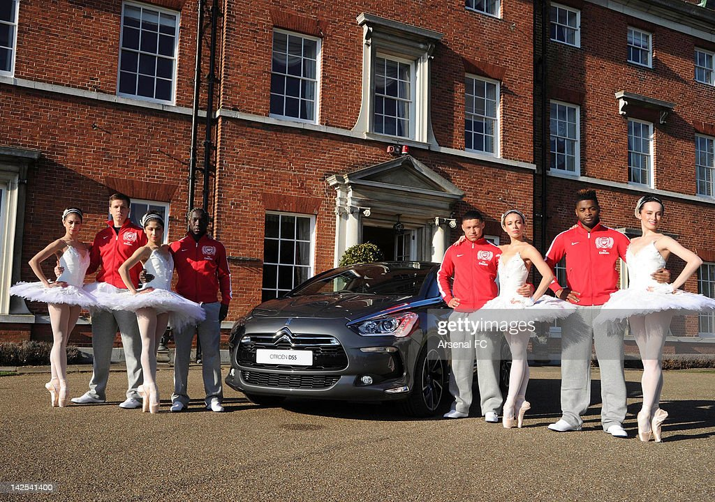 Arsenal FC Players Join Members Of English National Ballet For Citroen Shoot