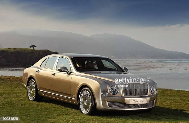 In this handout image provided by Bentley Motors Bentley�s new flagship luxury grand tourer the 2011 Mulsanne s seen