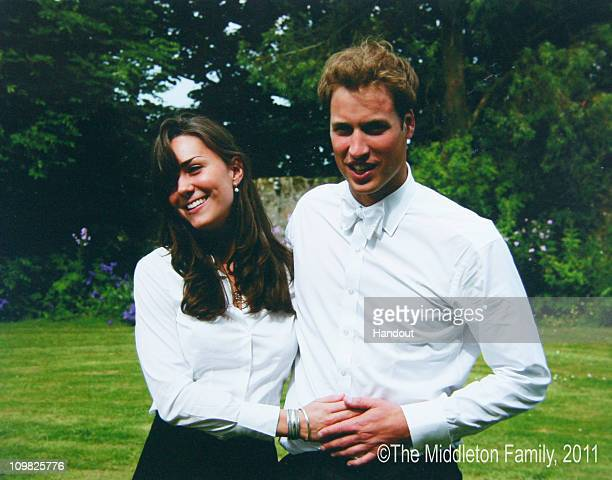 In this Handout Image provided by Clarence House www.officialroyalwedding2011.org, Kate Middleton and Prince William on the day of their graduation...