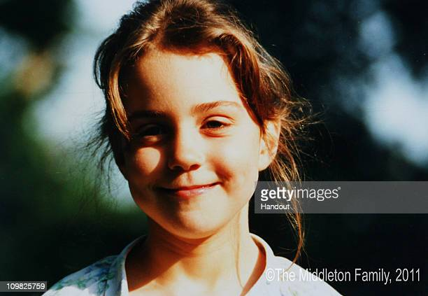 In this Handout Image provided by Clarence House www.officialroyalwedding2011.org, Kate Middleton is pictured aged five.