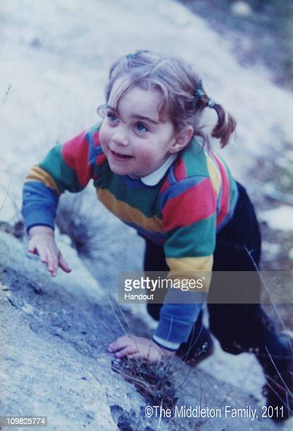 In this Handout Image provided by Clarence House www.officialroyalwedding2011.org, Kate Middleton is pictured aged three on a family holiday in the...