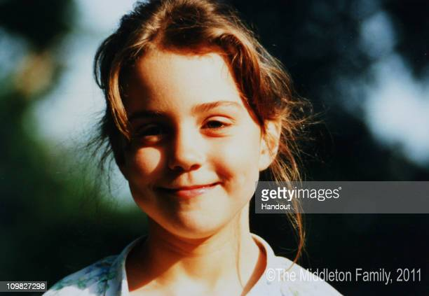 In this Handout Image provided by Clarence House wwwofficialroyalwedding2011org Kate Middleton is pictured aged five