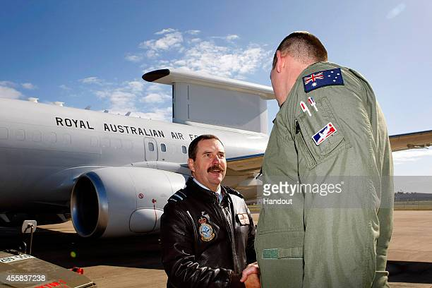 In this handout image provided by Commonwealth of Australia, Department of Defence, Deputy Chief Of Air Force, Air Vice Marshal Gavin Davies, AO,...