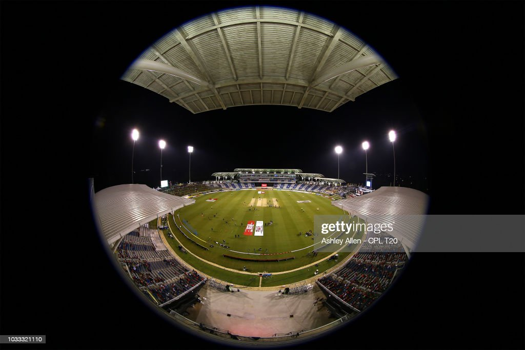 In this handout image provided by CPL T20, A general view of the Brian Lara Stadium prior to the start of play during the Hero Caribbean Premier League Semi-Final match between Trinbago Knight Riders and St Kitts and Nevis Patriots at Brian Lara Stadium on September 14, 2018 in Tarouba, Trinidad and Tobago.