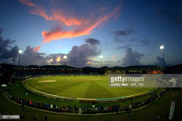 In this handout image provided by CPL T20 A General View of the Daren Sammy Stadium during Match 14 of the 2017 Hero Caribbean Premier League between...