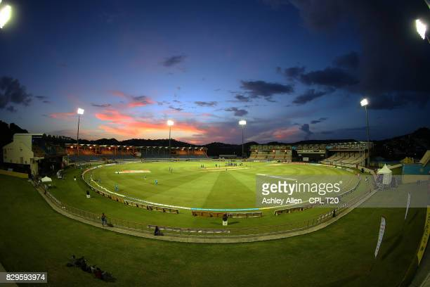 In this handout image provided by CPL T20 A General View of the Darren Sammy Stadium during Match 8 of the 2017 Hero Caribbean Premier League between...