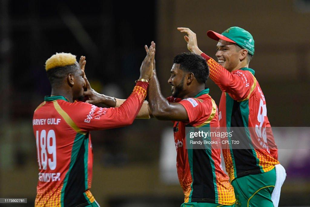 Guyana Amazon Warriors v Jamaica Tallawahs - 2019 Hero Caribbean Premier League (CPL) : News Photo
