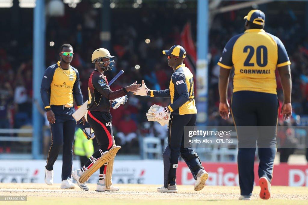 Trinbago Knight Riders v St Lucia Zouks - 2019 Hero Caribbean Premier League (CPL) : News Photo