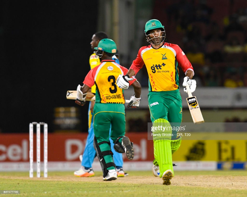 In this handout image provided by CPL T20, Sohail Tanvir of