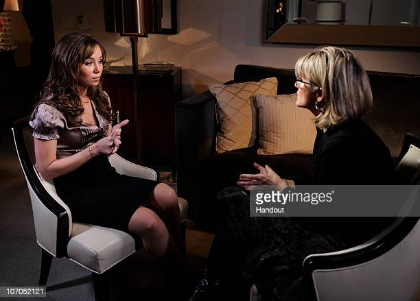 In this handout image provided by Disney ABC Television Group ABC News' Ashleigh Banfield talks to Capri Anderson the woman who was found in actor...