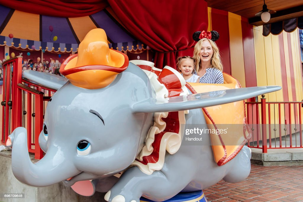 Actress Candice Accola Visits Walt Disney World : News Photo